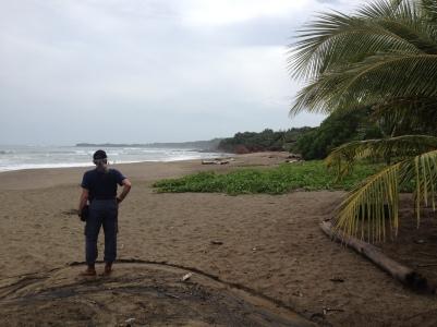 Gary on de playa