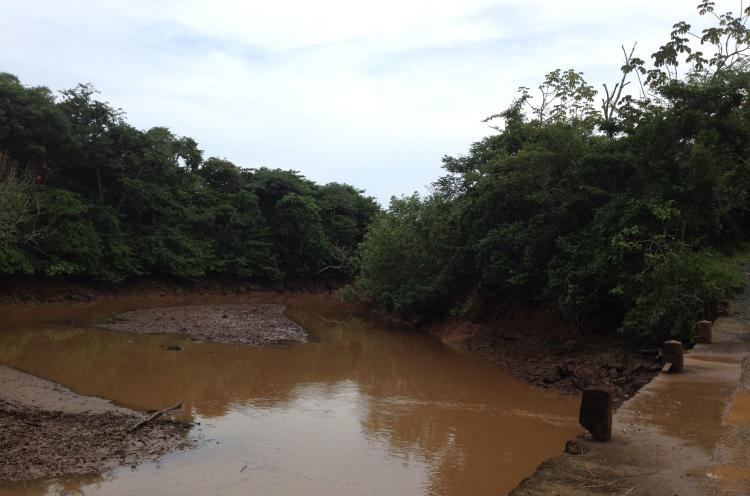 Water under one-land bridge
