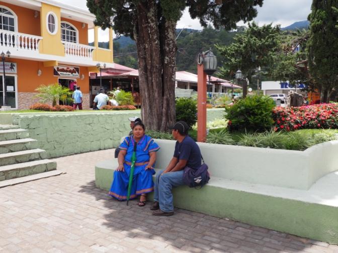 Indigenous Couple in Boquete Park