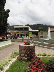 View of shops in Boquete
