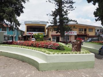 More shops and Danka Farmacia along the town square