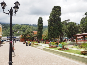 People of Boquete enjoying the town square