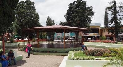 Gazebo in the town square of Boquete
