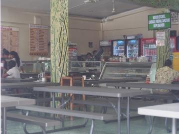 A look inside El Sabrason Restaurant
